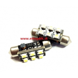 LED žiarovka 12V s päticou sufit (36mm), 4LED/5630SMD(1ks)